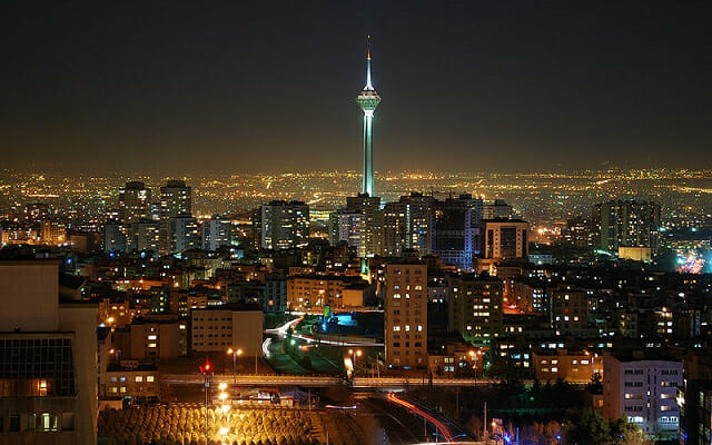 Milad Tower at Night - Tehran - Ultimate Persia Iran Tour Highlight