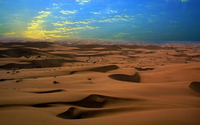 Sand Dunes of Maranjab Desert in Kavir National Park - Iran by Desert Tour Highlight