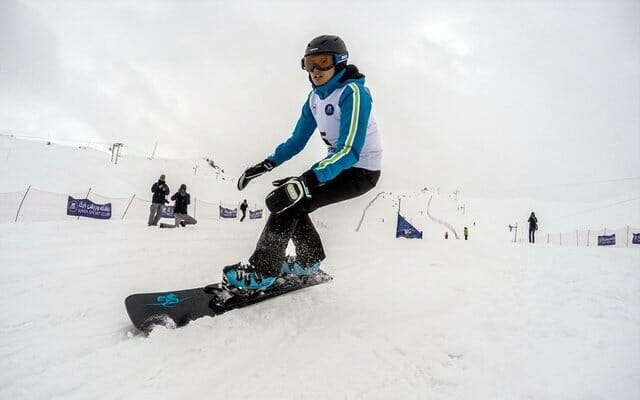 Snowboarding at Dizin Ski Resort - Iran Ski
