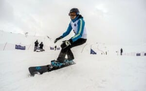 Snowboarding at Dizin Ski Resort - Iran Ski Tour